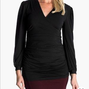 Eva Alexander London faux wrap maternity shirt